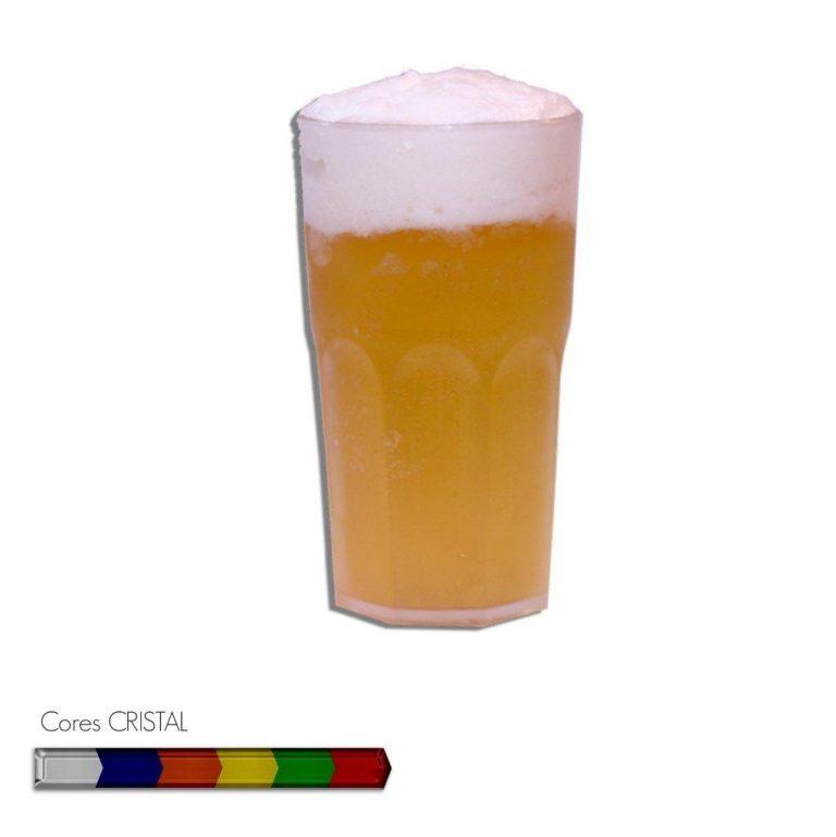 Copo Roma Cristal Personalizável 400ml - Plástico