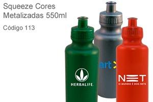 Squeeze Cores Metalizadas 550ml - Plástico