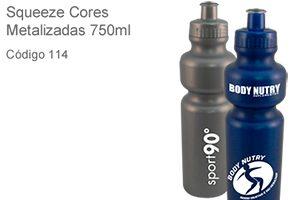 Squeeze Metalizado 750ml - Plástico