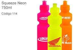 Squeeze Neon 750ml - Plástico