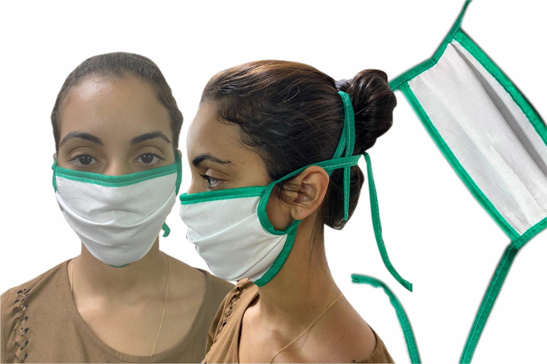 Mascara Tricoline de algodao